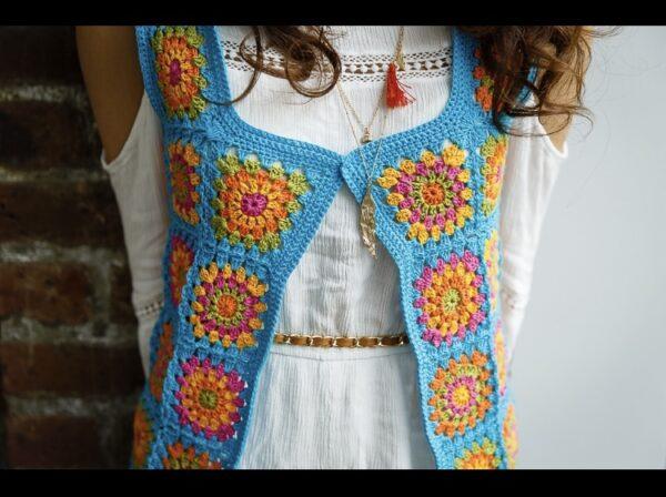 Festival Waistcoat Crochet Pattern